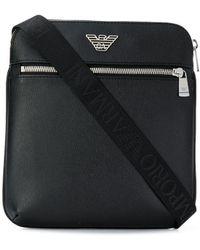 Emporio Armani Logo Messenger Bag - Черный