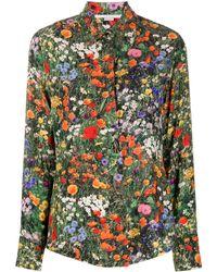 Stella McCartney Рубашка С Длинными Рукавами И Цветочным Принтом - Зеленый