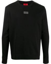 HUGO サイドロゴ プルオーバー - ブラック