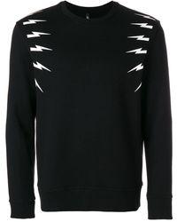 Neil Barrett Sweatshirt mit Print - Schwarz