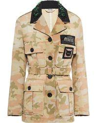 Miu Miu - Giacca con stampa camouflage - Lyst