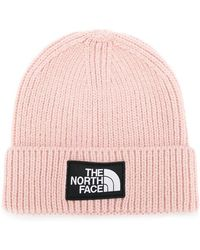 The North Face - Logo Patch Ribbed Beanie - Lyst