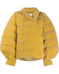 Henrik Vibskov exaggerated-shoulder Puffer Jacket - Yellow