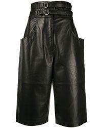 Proenza Schouler Double-belted Long Shorts - Black