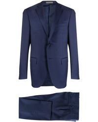 Corneliani Getailleerd Pak - Blauw