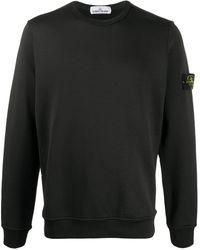 Stone Island ロゴ スウェットシャツ - ブラック