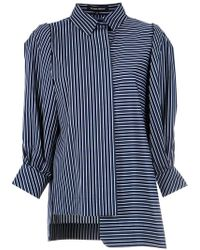 Gloria Coelho - Asymmetric Striped Shirt - Lyst