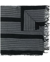 Uma Wang Striped scarf - Noir
