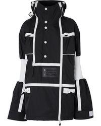Burberry Двухцветное Пальто В Спортивном Стиле - Черный