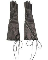 Manokhi - Lace-up Gloves - Lyst