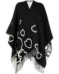 Moncler Кейп С Логотипом - Черный
