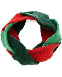 Gucci Geflochtenes Haarband - Grün