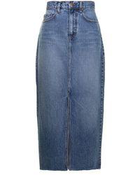 Nobody Denim Jupe en jean Avery à taille haute - Bleu