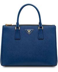 Prada Galleria Tas - Blauw