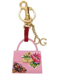 Dolce & Gabbana Welcome Tote Keyring - Pink
