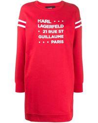 Karl Lagerfeld - Rue St Guillaume スウェットワンピース - Lyst