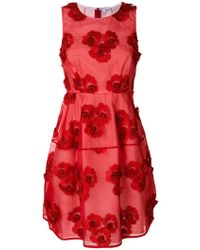 P.A.R.O.S.H. - Floral Embroidered Mini Dress - Lyst