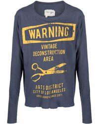 Greg Lauren グラフィック Tシャツ - ブルー