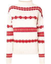 Altuzarra インターシャ セーター - ホワイト