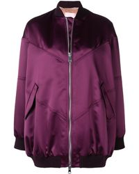 Giamba Zipped-up Bomber Jacket - Pink