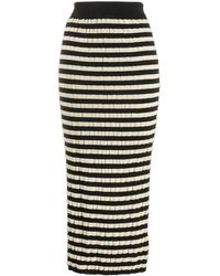 Marni - Mid-length Straight Striped Skirt - Lyst