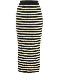 Marni - Mid-length Straight Striped Skirt - Lyst
