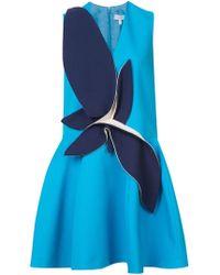 Delpozo Ausgestelltes Kleid mit Applikation - Blau
