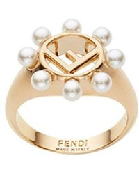 Fendi - Embellished Ring - Lyst