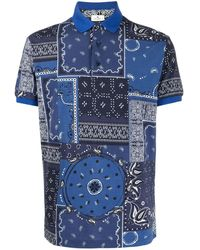 Etro バンダナプリント ポロシャツ - ブルー