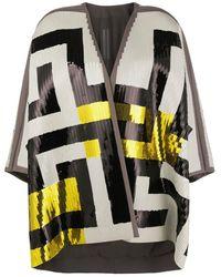 Rick Owens Sequinned Wrap Jacket - Black
