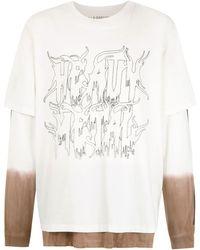 À La Garçonne À La Garçonne + Hering Double T-shirt - White