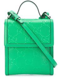 Gucci Messengertas Met Reliëf Logo - Groen