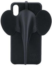 Loewe Чехол Для Iphone Xs Max С Аппликацией - Черный