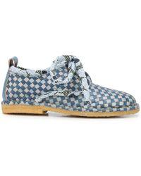 Henrik Vibskov Berry Basket Lace-up Shoes - Blue