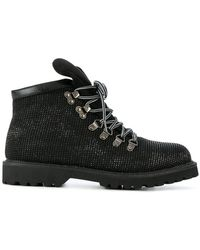 Twin Set - Lace-up Glitter Boots - Lyst