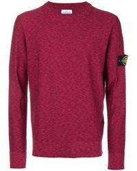 Stone Island - Meliertes Sweatshirt - Lyst