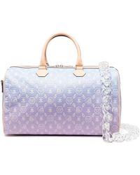 Philipp Plein Monogram Leather Travel Bag - Purple