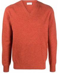 Altea ファインニット Vネックセーター - オレンジ