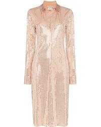 Bottega Veneta Платье-рубашка С Пайетками - Многоцветный