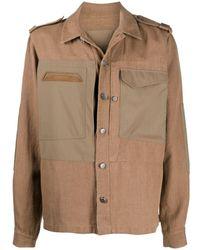 Sease パッチポケット シャツジャケット - ブラウン