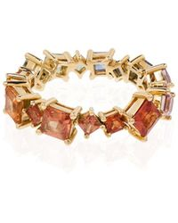 Rosa De La Cruz 18kt Yellow Gold Sapphire-embellished Ring - Metallic