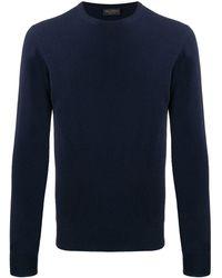 Dell'Oglio Slim-fit Knit Sweater - Blue