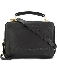 Marc Jacobs Box-tas Met Reliëf Logo - Zwart