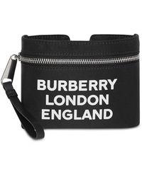 Burberry Buidel Met Logo Print - Zwart