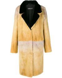 Numerootto - Fur Long Coat - Lyst