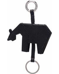 Zanellato Animal-shaped Leather Keyring - Black