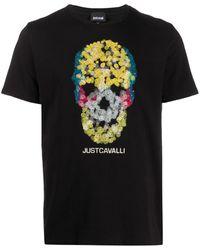 Just Cavalli スカルプリント Tシャツ - ブラック
