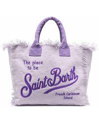 Mc2 Saint Barth Пляжная Сумка С Вышитым Логотипом - Пурпурный