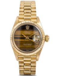 Rolex Наручные Часы Oyster Perpetual Datejust 26 Мм 1980-х Годов Pre-owned - Коричневый