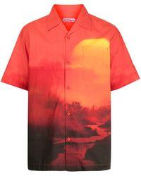 Maharishi Camicia con stampa - Rosso